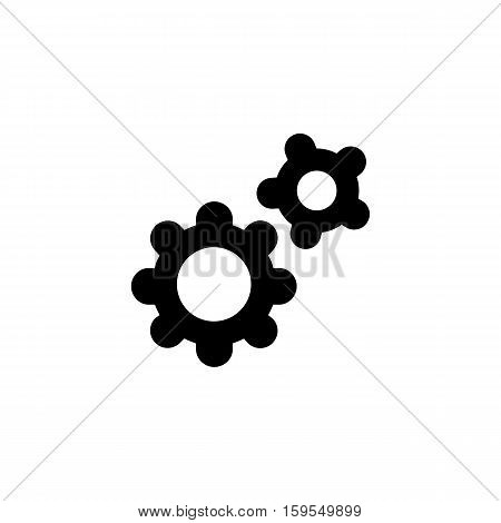 Setting Icon. Flat illustration isolated vector sign symbol