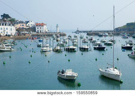 Beautiful View Of Sauzon, Belle-ile-en-mer, Brittany, France