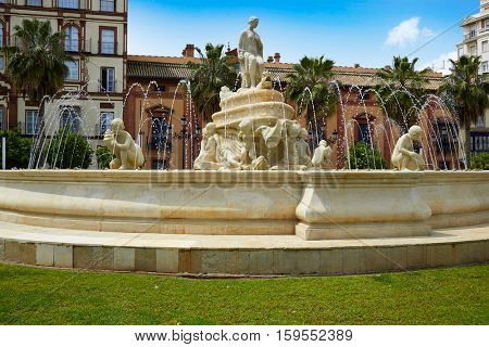 Seville Puerta Jerez fountain in Andalusia Sevilla spain