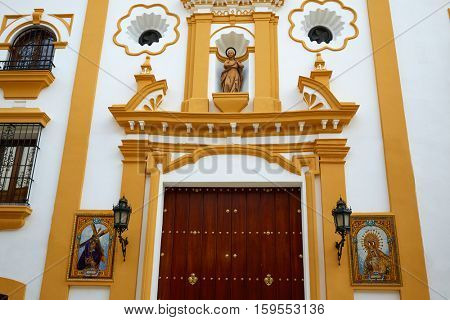Seville Capilla de los Marineros Chapel in Spain at Triana barrio of Sevilla Sndalusia