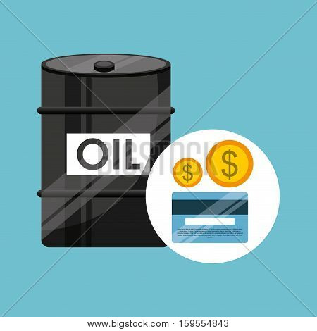 barrel oil concept banking dollar vector illustration eps 10
