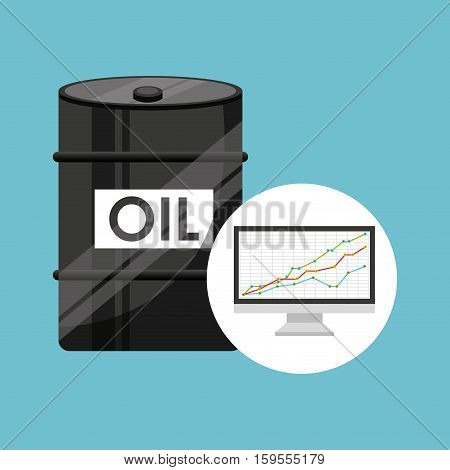barrel oil concept finance graph vector illustration eps 10