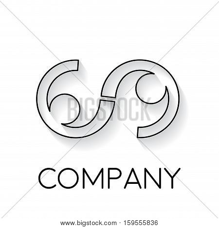 Vector sign abstract friendship infinity in linear style