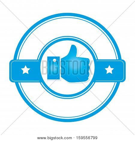 hand like approved seal vector illustration design