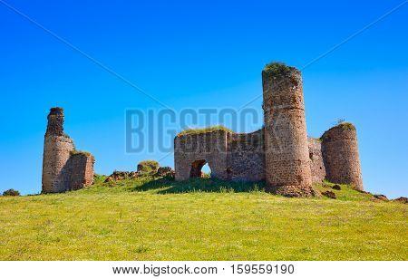 Castillo de las Torres castle by via de la Plata in Extremadura of spain