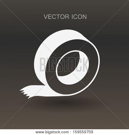 reel of adhesive tape vector illustration