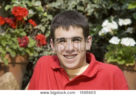Happy Teenager With Braces