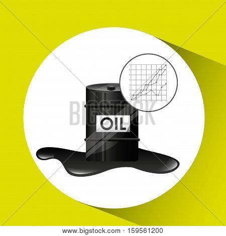 barrel oil industry growth diagram background vector illustration eps 10