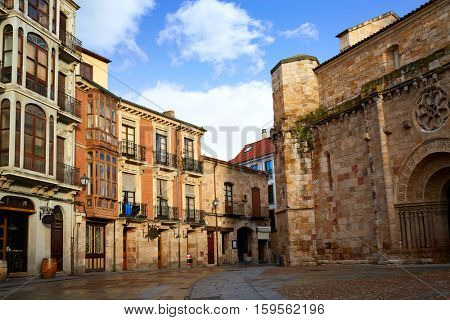 Zamora San Juan church in Plaza Mayor at spain exterior image shot from public floor