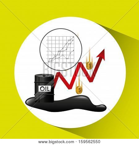money oil industry growth diagram background vector illustration eps 10