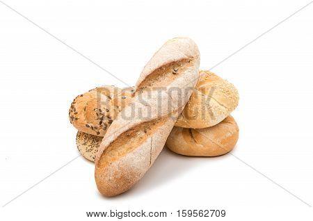 Kaiser bun  bakery on a white background