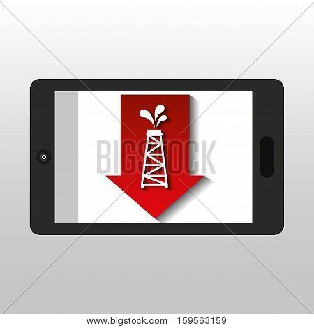 business oil smartphone price oil down vector illustration eps 10