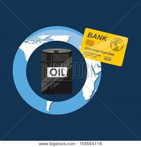 oil and petroleum industry economic world money vector illustration eps 10