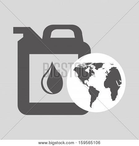 world oil industry consumption gallon vector illustration eps 10