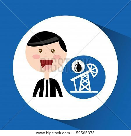 businessman oil concept pumping tower vector illustration eps 10