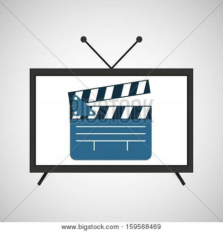 screen tv movie clapper film vector illustration eps 10