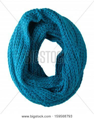 Scarf Isolated On White Background.scarf  Top View .aqua Scarf