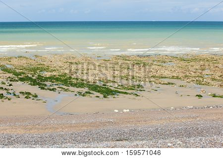 Beautiful Landscape Of A Beach In Normandy, France