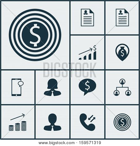 Set Of Hr Icons On Curriculum Vitae, Messaging And Business Woman Topics. Editable Vector Illustration. Includes Application, Male, Profile And More Vector Icons.