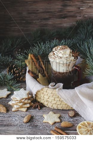 Hot Chocolate And Ginger Bread, Christmas Or New Year