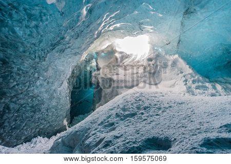 Crystal ice cave, Vatnajokull national park, Iceland
