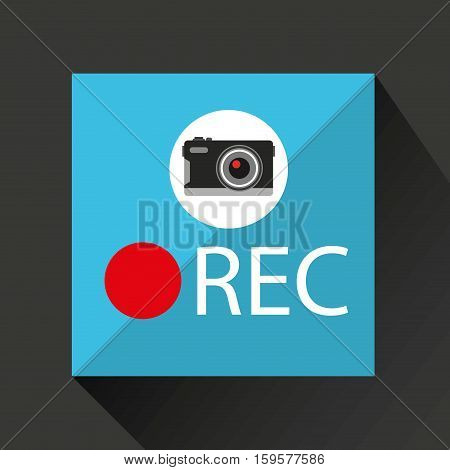 retro camera photographic rec button vector illustration eps 10