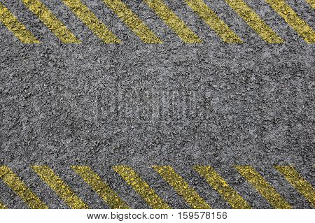 hazard background with yellow stripes and copy space