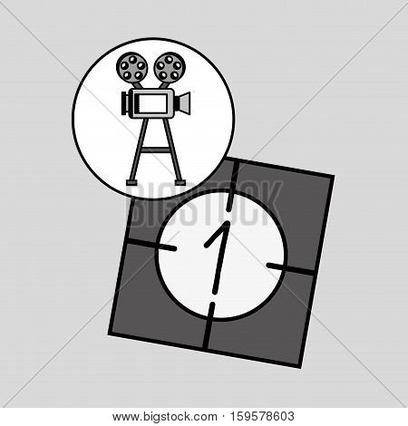 camera film vintage with movie countdown film vector illustration eps 10
