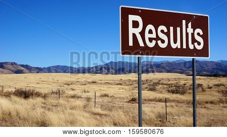 Results Brown Road Sign