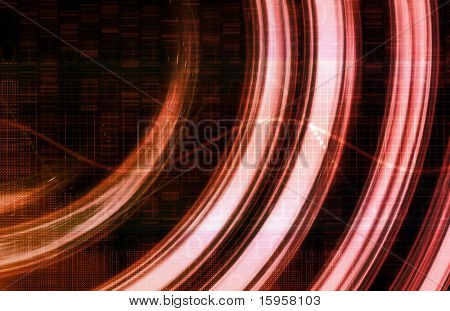 Futuristic Background in the Digital Age Art poster