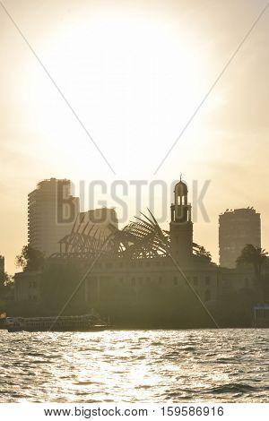 Nile River at sunset - Cairo, Egypt