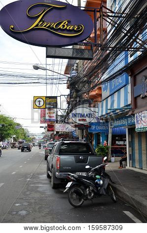 Viiew Of  Street In Pattaya.thailand