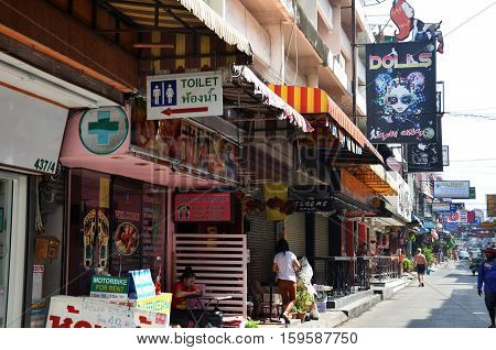 Viiew Of Soi 6 In Pattaya.thailand
