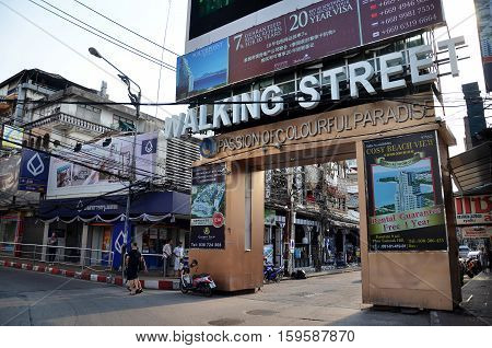 Unidentified People On A Walking Street In Pattaya