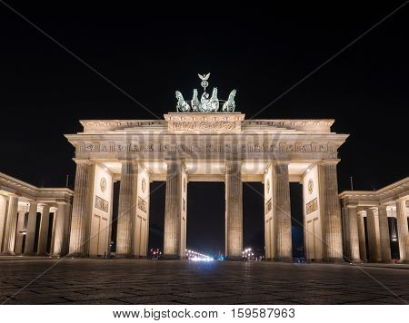 The famous Brandenburger Tor one of the best-known landmarks and national symbols of Germany