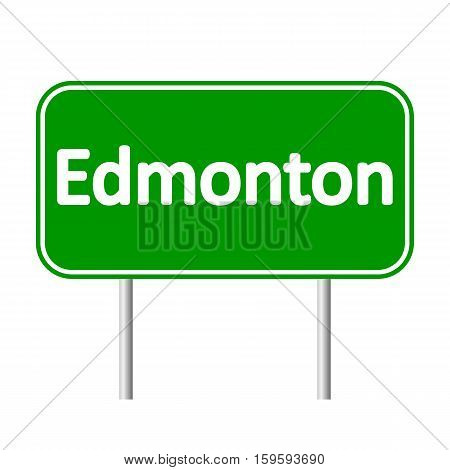 Edmonton road sign isolated on white background.
