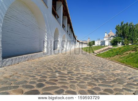 Wall Of Kremlin In Astrakhan. Russia