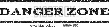 Danger Zone watermark stamp. Text caption between horizontal parallel lines with grunge design style. Rubber seal gray stamp with dust texture. Vector ink imprint on a white background.