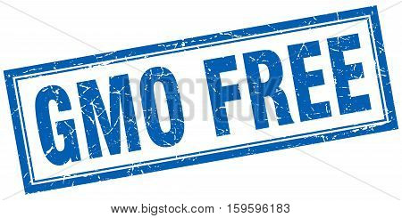 gmo free. square. stamp. grunge. vintage. sign. Isolated