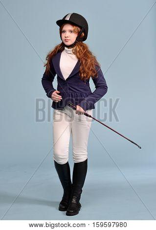Redhead Girl With Freckles Jockey