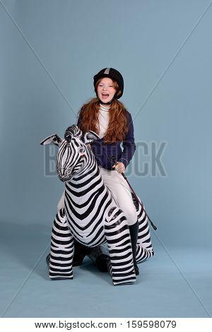 Redhead Girl Jockey Dreams Of Horses