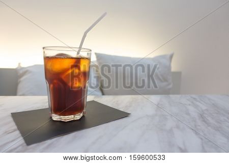 Iced Americano Coffee  With Background