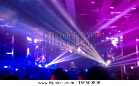 Blurred Background Of  People In  Nightclub