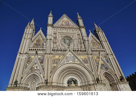 Famous Duomo In Etruscan Village Of Orvieto In Italy