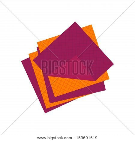 Flat cellulose sponges icon logo cleaning rag isolated on white background. Cleaning object, household equipment tool clean. Cleaning service vector stock illustration, housekeeping cleanness.