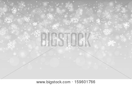 Seamless Abstract Snow Flakes Background