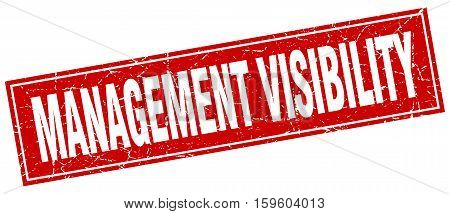 management visibility. square. stamp. grunge. vintage. sign. Isolated