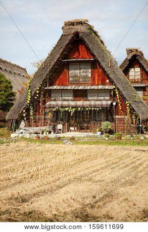 House In Historic Village Shirakawa-go, Gifu Prefecture, Japan