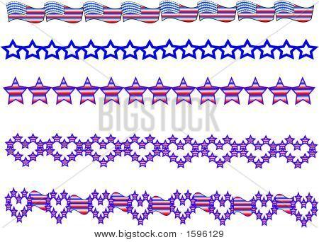 Patriotic Borders.Eps