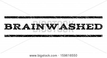 Brainwashed watermark stamp. Text caption between horizontal parallel lines with grunge design style. Rubber seal black stamp with dust texture. Vector ink imprint on a white background.